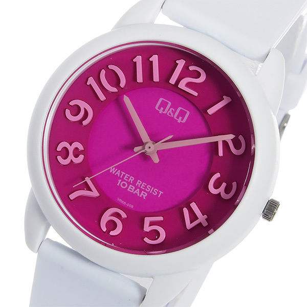 シチズン キューアンドキュー クオーツ ユニセックス 腕時計 VR66-008 ピンク