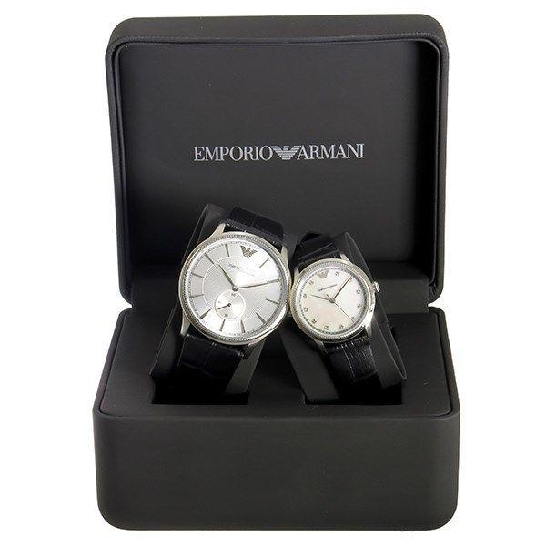 エンポリオ アルマーニ EMPORIO ARMANI ペアウォッチ クオーツ 腕時計 AR9111シルバー/シェル