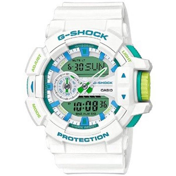 カシオ CASIO Gショック G-SHOCK ロータリースイッチ アナデジ クオーツ メンズ クロノ 腕時計 GA-400WG-7A グリーン/ホワイト