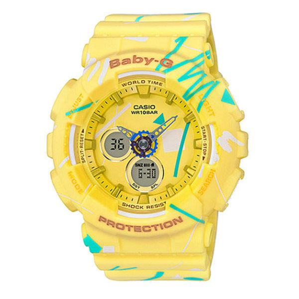 カシオ ベビーG BABY-G クオーツ レディース 腕時計 BA-120SC-9A イエロー