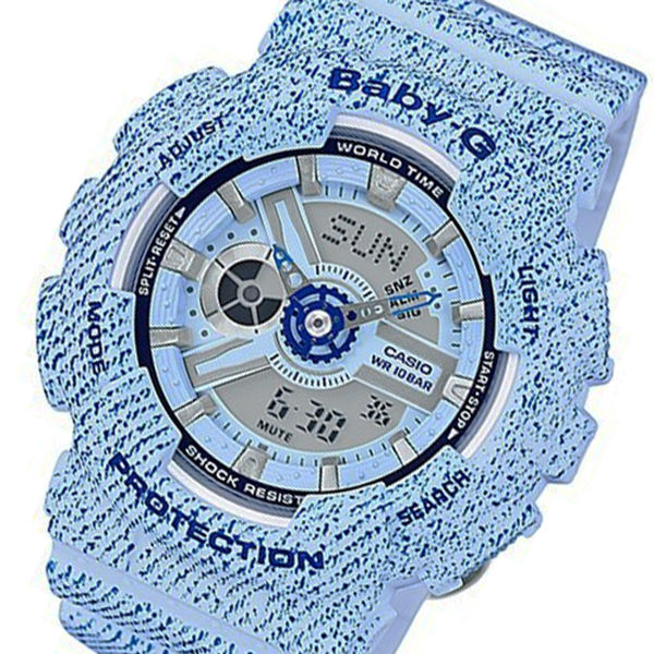 カシオ ベビーG デニムカラー クオーツ レディース 腕時計 BA-110DC-2A3 ブルー