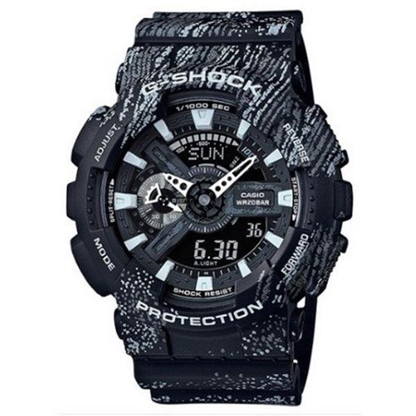 カシオ CASIO Gショック G-SHOCK アナデジ ミスト・テクスチャー メンズ 腕時計 GA-110TX-1A ブラック