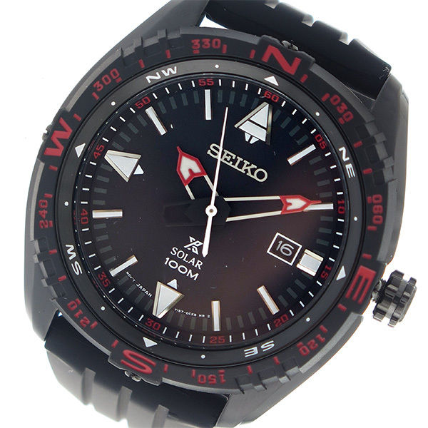 セイコー SEIKO プロスペックス PROSPEX ランド ソーラー クオーツ メンズ 腕時計 SNE425P1 ブラック