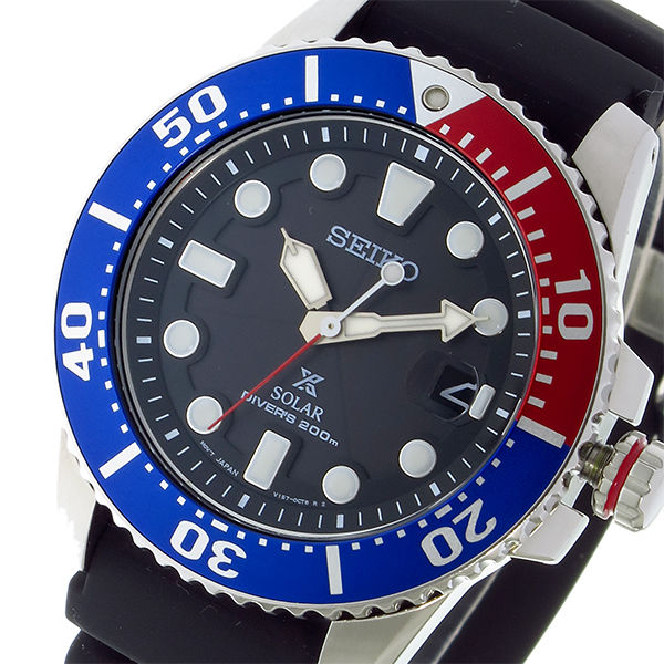 セイコー SEIKO プロスペックス PROSPEX ソーラー クオーツ メンズ 腕時計 SNE439P1 ブラック