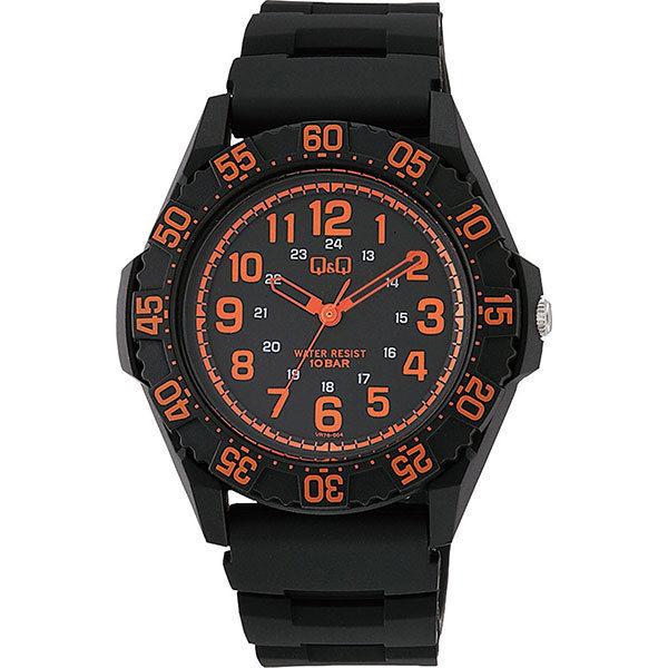 シチズン CITIZEN キューアンドキュー Q&Q 10気圧防水 メンズ 腕時計 VR76-004 ブラック