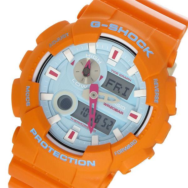 カシオ CASIO Gショック G-SHOCK Gライド In4mation コラボ メンズ 腕時計 GAX-100X-4A ブルー/オレンジ