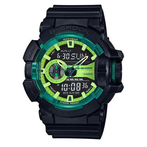 カシオ CASIO Gショック G-SHOCK アナデジ クオーツ メンズ クロノ 腕時計 GA-400LY-1A ブラック