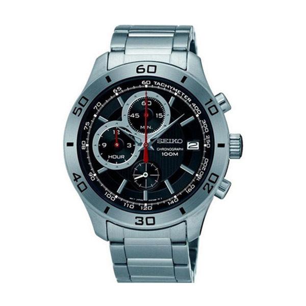 セイコー SEIKO クロノ クオーツ メンズ 腕時計 SSB187P1 ブラック