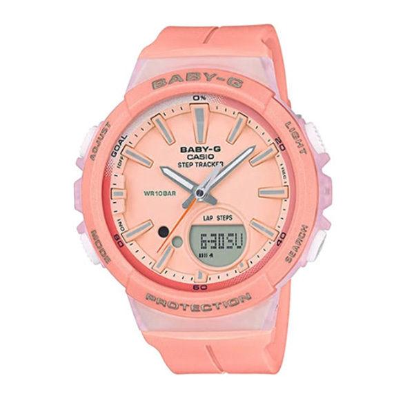カシオ CASIO ベビーG Baby-G for running STEP TRACKER アナデジ クオーツ レディース クロノ 腕時計 BGS-100-4A ピンク