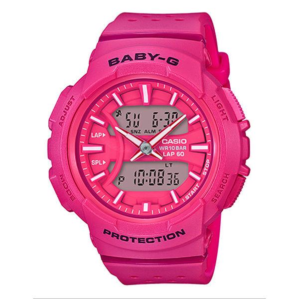カシオ CASIO ベビーG Baby-G for running アナデジ クオーツ レディース クロノ 腕時計 BGA-240-4A ピンク