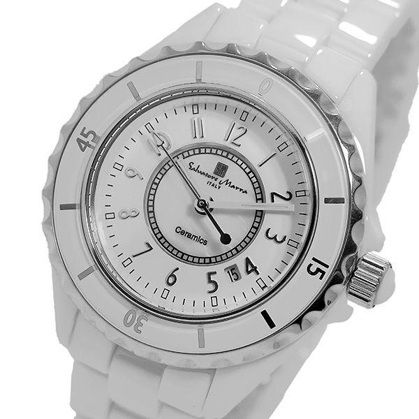 サルバトーレ マーラ クオーツ レディース 腕時計 SM15151-WHA ホワイト/シルバー