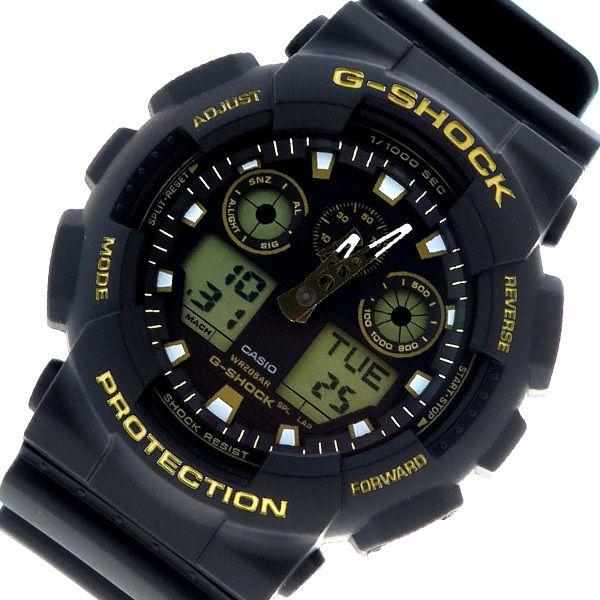 カシオ CASIO Gショック G-SHOCK クオーツ メンズ 腕時計 GA-100GBX-1A9 ブラック×ゴールド