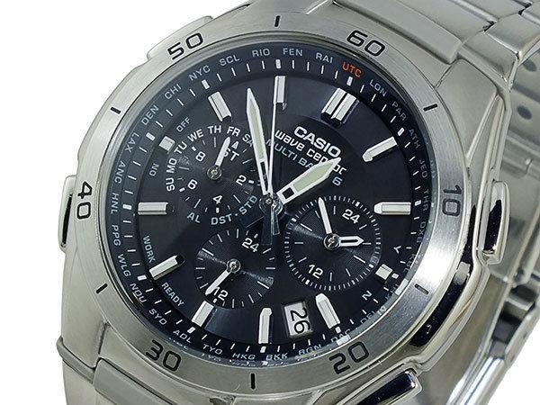 カシオ CASIO ウェーブセプター 電波 ソーラー メンズ 腕時計 WVQ-M410DE-1A2JF ブラック 国内正規