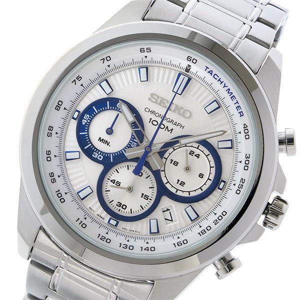 セイコー SEIKO クロノ クオーツ メンズ 腕時計 SSB239P1 ホワイト