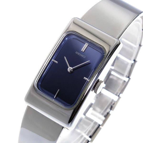 セイコー SEIKO 手巻き レディース 腕時計 ZWB15 ネイビー/オーロラ