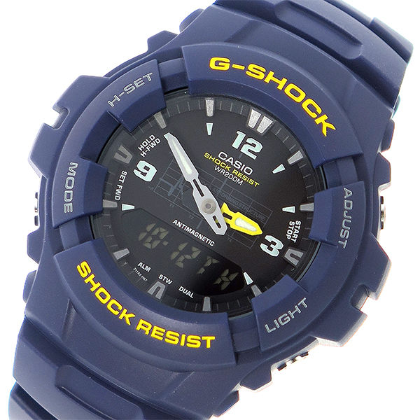 カシオ CASIO Gショック G-SHOCK クオーツ メンズ 腕時計 G-100-2B ブラック