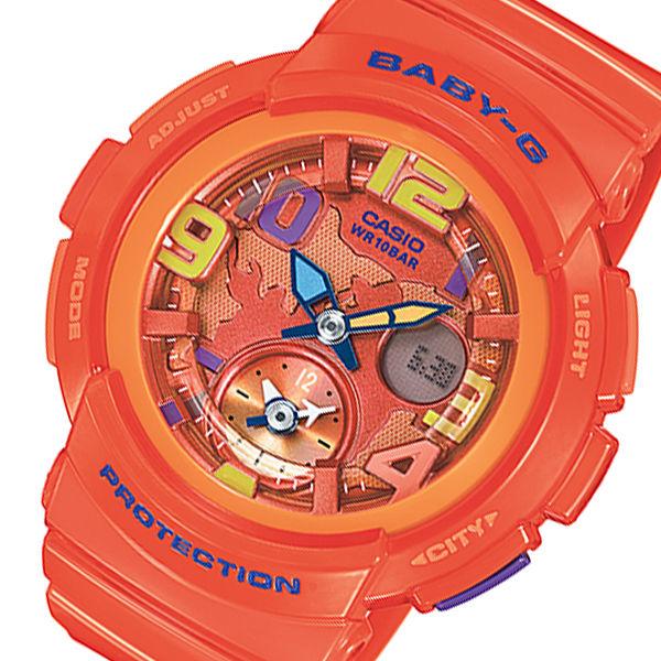 カシオ ベビーG ビーチトラベラーシリーズ レディース 腕時計 BGA-190-4B オレンジ