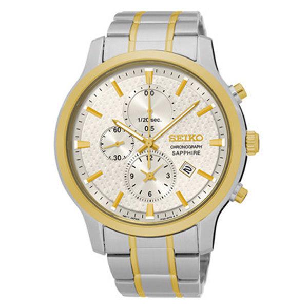 セイコー SEIKO クロノ クオーツ メンズ 腕時計 SNDG68P1 シルバー