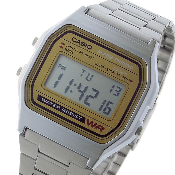 カシオ CASIO スタンダード クオーツ レディース 腕時計 A158WEA-9 ゴールド