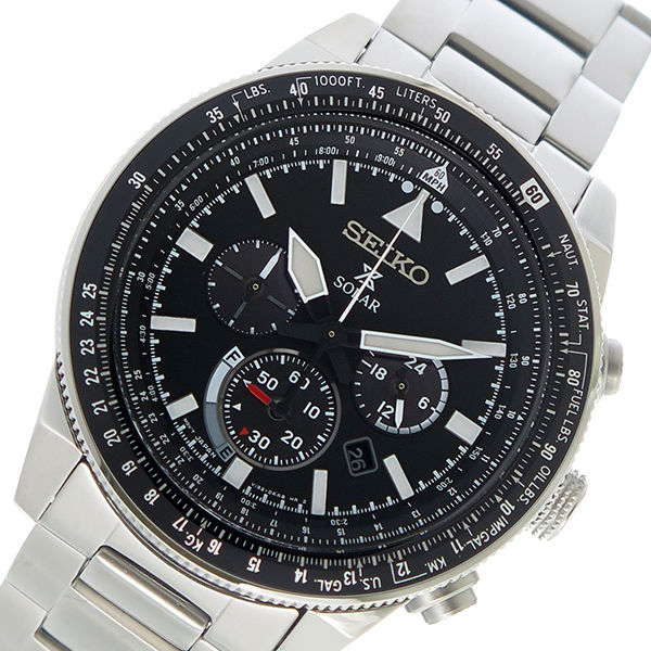 セイコー SEIKO プロスペックス PROSPEX ソーラー メンズ 腕時計 SSC607P1 ブラック