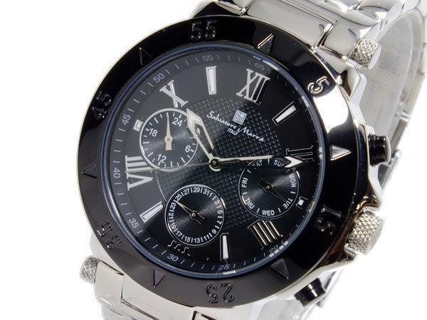 サルバトーレマーラ SALVATORE MARRA クオーツ メンズ 腕時計 SM14118-SSBK