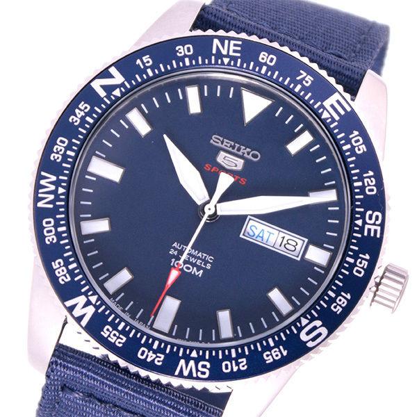 セイコー SEIKO 5スポーツ 自動巻き メンズ 腕時計 SRP665J1 ネイビー