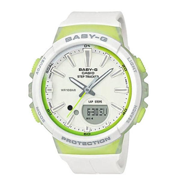 カシオ CASIO ベビーG Baby-G for running STEP TRACKER アナデジ クオーツ レディース クロノ 腕時計 BGS-100-7A2 ホワイト