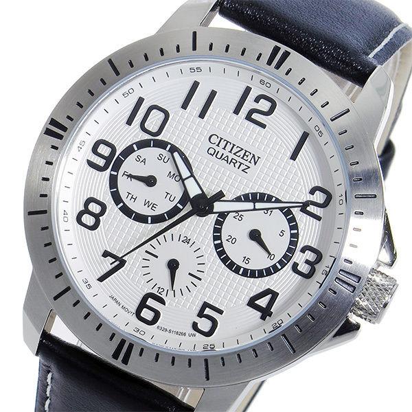 シチズン CITIZEN クオーツ メンズ 腕時計 AG8310-08A ホワイト