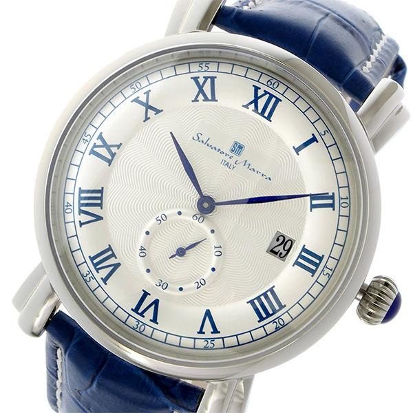 サルバトーレマーラ クオーツ メンズ 腕時計 SM13121-SSWHBL ホワイト