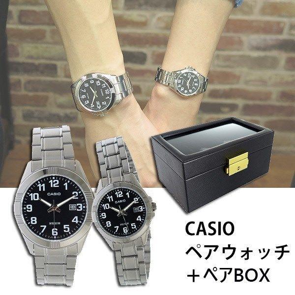 【ペアウォッチ】 カシオ CASIO チープカシオ ユニセックス 腕時計 MTP-1308D-1B LTP-1308D-1B ペアボックス付