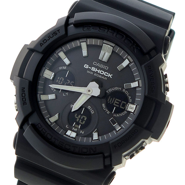 カシオ CASIO Gショック G-SHOCK クオーツ メンズ 腕時計 GAS-100B-1A ブラック