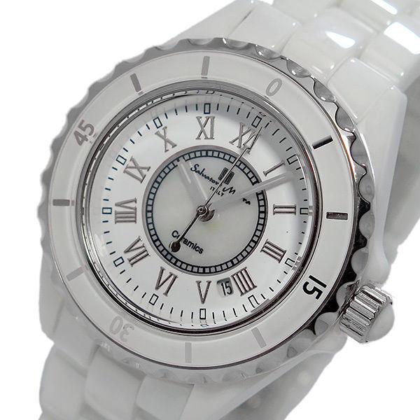 サルバトーレ マーラ クオーツ レディース 腕時計 SM15151-WHR ホワイト/シルバー