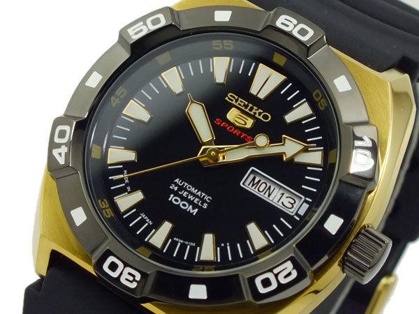 セイコー ファイブ SEIKO 5 スポーツ SPORTS 自動巻き メンズ 腕時計 SRP288J1 ブラック