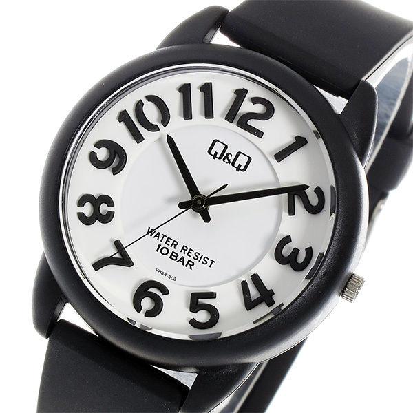 シチズン キューアンドキュー クオーツ ユニセックス 腕時計 VR64-003 ホワイト