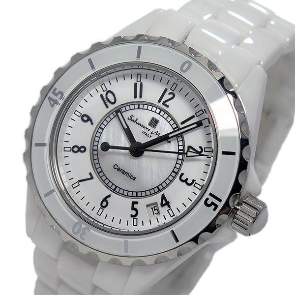 サルバトーレ マーラ クオーツ メンズ アラビア数字 腕時計 SM15120-WHA ホワイト