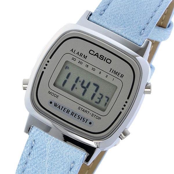 カシオ CASIO スタンダード クオーツ レディース 腕時計 LA670WL-2A スカイブルーデニム
