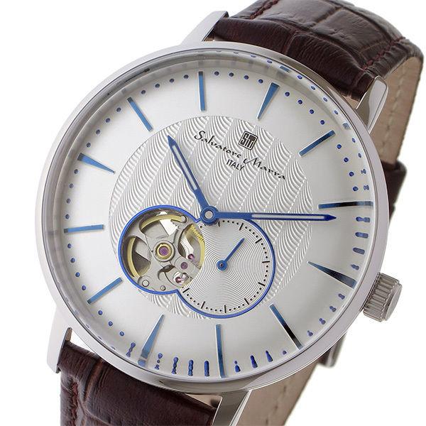 サルバトーレ マーラ SALVATORE MARRA 自動巻き メンズ 腕時計 SM17114-SSWH ホワイト/シルバー