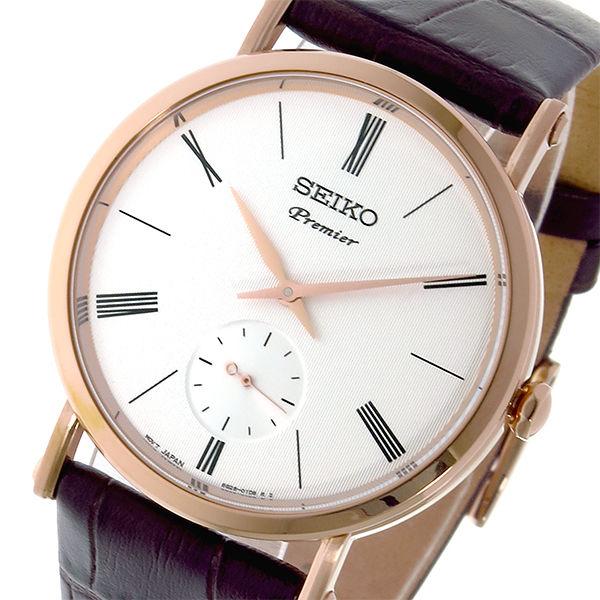 セイコー SEIKO プルミエ Premier クオーツ ユニセックス 腕時計 SRK038P1 ホワイト