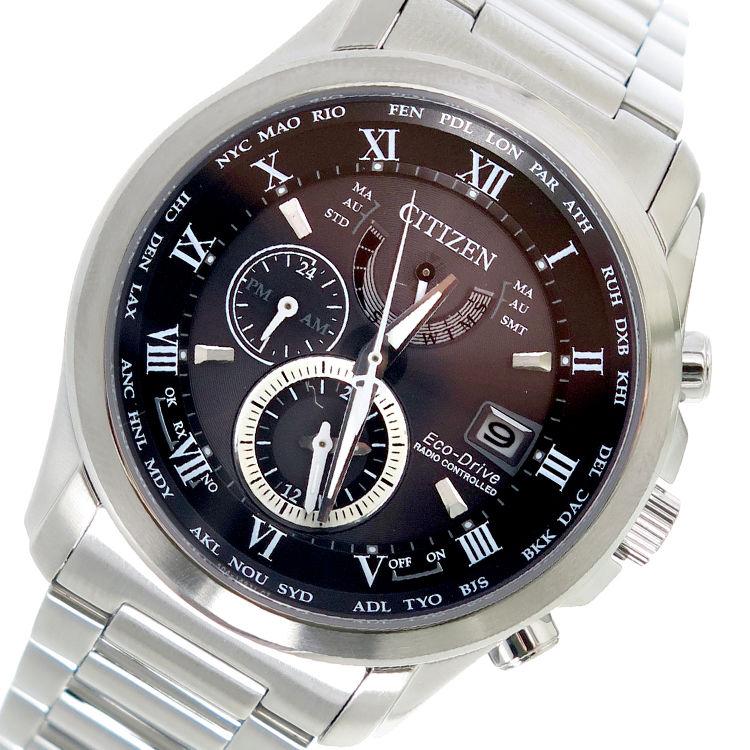 シチズン CITIZEN エコ・ドライブ クオーツ メンズ 腕時計 AT9080-57E ブラック
