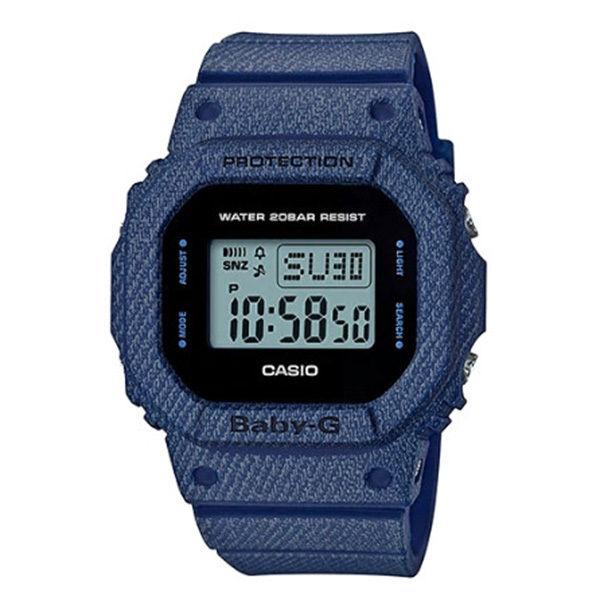 カシオ CASIO ベビーG Baby-G デニムドカラー DENIM'D COLOR クオーツ レディース クロノ 腕時計 BGD-560DE-2 液晶/ブラック