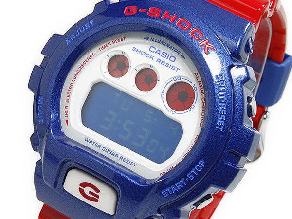 カシオ CASIO Gショック G-SHOCKクオーツ メンズ デジタル 腕時計 DW-6900AC-2 ネイビー×レッド