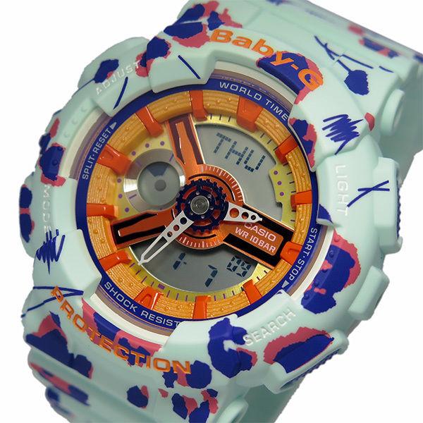 カシオ ベビーG フラワーレオパードシリーズ レディース 腕時計 BA-110FL-3A