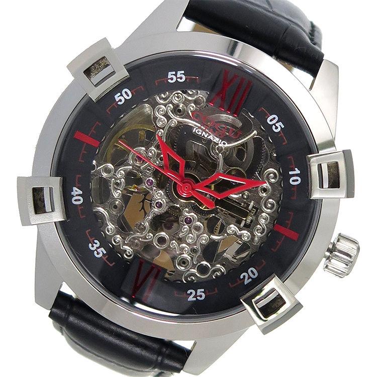コグ COGU 自動巻き メンズ 腕時計 SKN2-BK ブラック