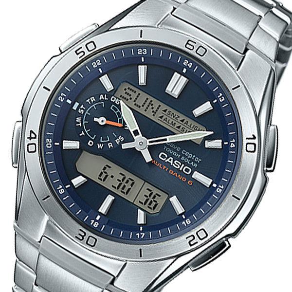 カシオ ウェーブセプター メンズ 電波 腕時計 WVA-M650D-2AJF ネイビー 国内正規