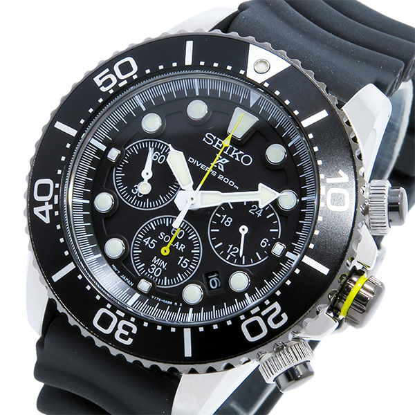 セイコー SEIKO ソーラー クロノグラフ ダイバーズ メンズ 腕時計 SSC021P1