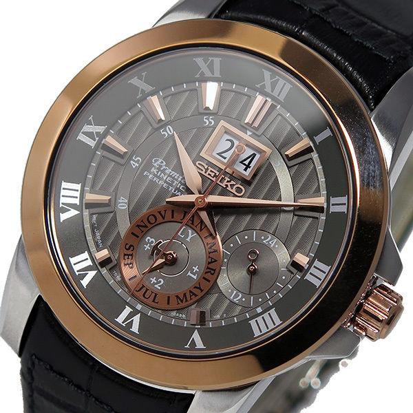 セイコー プルミエ パーペチュアル クオーツ メンズ 腕時計 SNP114P2 グレー