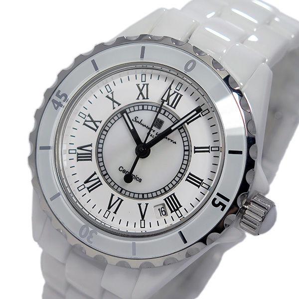 サルバトーレ マーラ クオーツ メンズ ローマ数字 腕時計 SM15120-WHR ホワイト