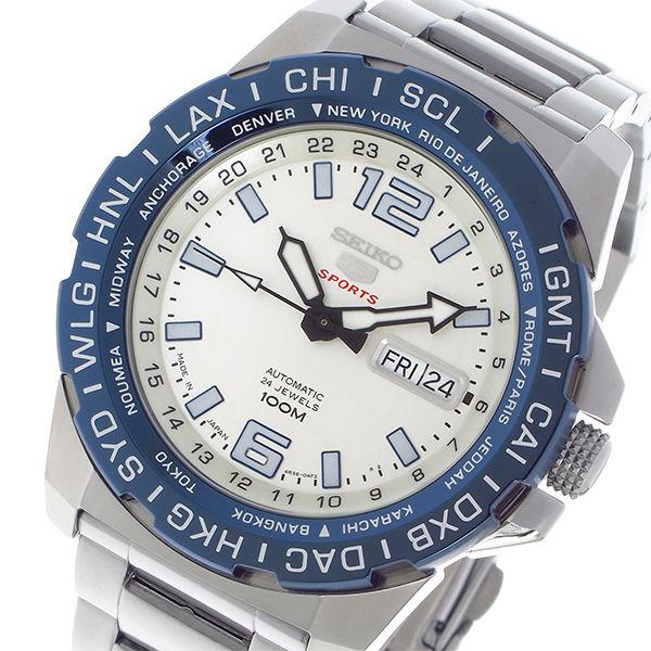 セイコー SEIKO セイコー5 スポーツ SPORTS 自動巻き メンズ 腕時計 SRP687J1 ホワイトシルバー