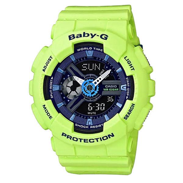 カシオ CASIO ベビーG Baby-G パンチングパターン アナデジ クオーツ レディース クロノ 腕時計 BA-110PP-3A ネイビー
