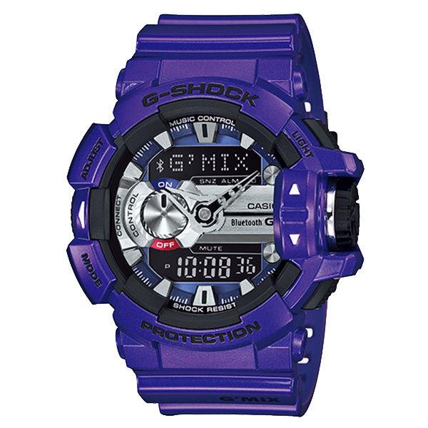 カシオ CASIO Gショック G-SHOCK ジーミックス G'MIX アナデジ クオーツ メンズ クロノ 腕時計 GBA-400-2A パープル